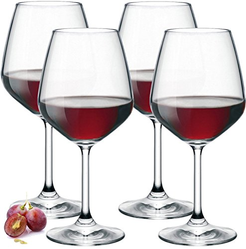 Paksh Novelty Italian Red Wine Glasses 18 Ounce Lead