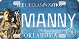 Personalized Oklahoma Chickasaw BICYCLE Large State License Plate Replica