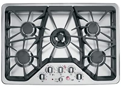 "GE CGP350SETSS Cafe 30"" Stainless Steel Gas Sealed Burner Cooktop"