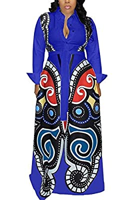 LKOUS Womens Casual Cartoon Printing Short Sleeves High WAIS One-Piece Jumpsuits Button Romper Playsuit