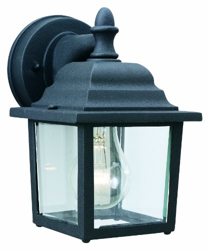 Thomas Lighting SL94237 Outdoor Essentials 1 Light Outdoor Wall Sconce, Matte Black
