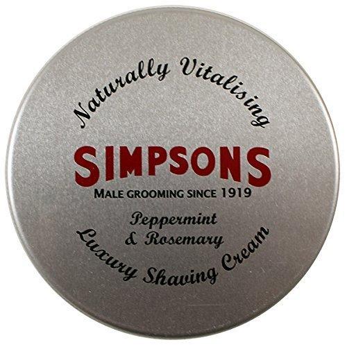 125 Ml Tin - Simpsons Shaving Cream, Peppermint & Rosemary, 125 ml Tin
