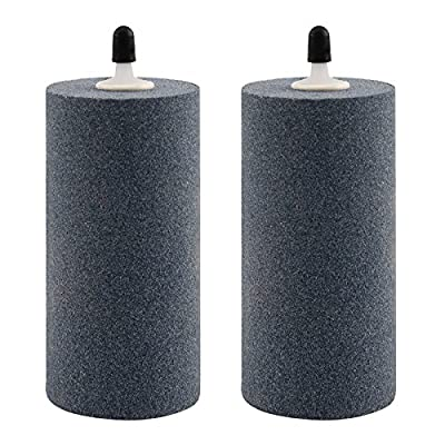 Best Cheap Deal for 2-Pack Air Stone Cylinder 4 x 2 Inch Micropore Design Mineral Bubble Diffuser for Hydroponics by Growneer - Free 2 Day Shipping Available
