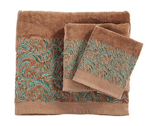 HiEnd Accents with with Embroidered Scroll Pattern Towel ()