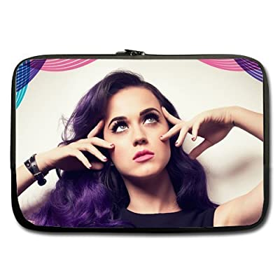 Neoprene Laptop / Notebook Sleeve Katy Perry Purple Hair Custom Sleeve For Macbook Pro 14Inch (one sides