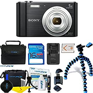 Sony Cyber-shot DSC-W800 Digital Camera (Black) + Deal-Expo Premium Accessories Bundle