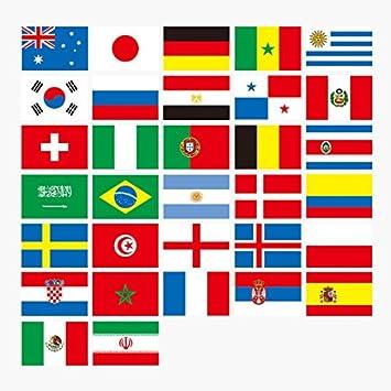 SMARTrich World Cup Banderines Rusia 2018 banderines de fútbol banderas tela 10 m con los 32
