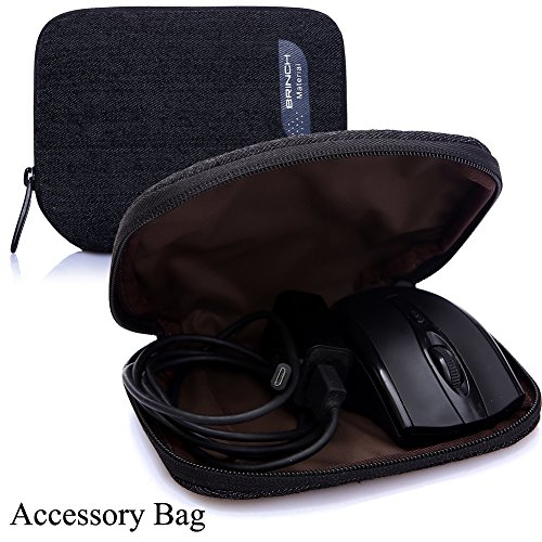 Brinch Fabric Portable Waterproof Anti-tear Laptop Pouch for All 15 - 15.6 inch Tablet/Apple Macbook/ Chromebook/ Acer/ Asus/ Dell/ Fujitsu/ Lenovo/ HP/ Samsung/ Sony/ Toshiba - Cowboy Black