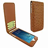 Piel Frama 766 Tan Ostrich Classic Magnetic Leather Case for Apple iPhone 7 Plus / 8 Plus