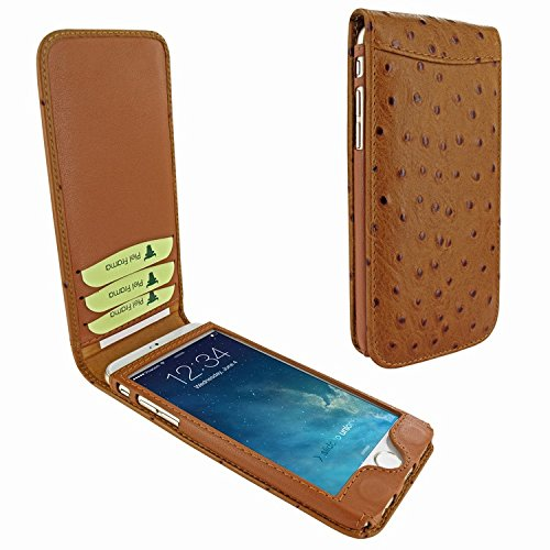 Piel Frama 682 Tan Ostrich Magnetic Leather Case for Apple iPhone 6 / 6S by Piel Frama