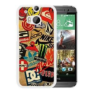 Classic Skateboard Logos White New Customized Design HTC ONE M8 Case