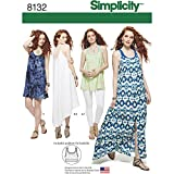 Simplicity Creative Patterns 8132 Misses' Tank Dress or Tunic and Knit Bralette, P5 (12-14-16-18-20)