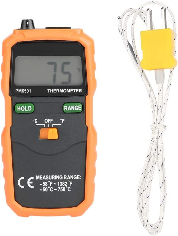Peakmeter PM6501 LCD Digital Instant-Read Thermometer Temperature Meter with Type K Thermocouple Sensor Probe