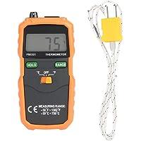 Herramienta de prueba de temperatura de pantalla LCD digital de alta precisión tipo K, termómetro, PEAKMETER PM6501…