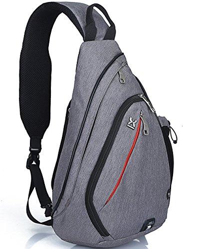 FreeMaster Mochila de Hombro Bolso de Hombro Bolsos Cruzados Práctico y Espacioso 18.7x11.8x5.1inch (47x30x13cm) Grey