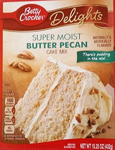 Betty Crocker Delights Super Moist Butter Pecan Cake Mix (Pack of 3) Betty Crocker Butter Pecan Cake