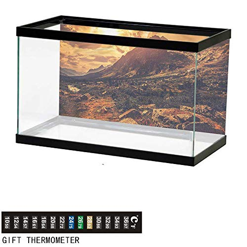 bybyhome Fish Tank Backdrop Europe,Italian Alps Scenery,Aquarium Background,30