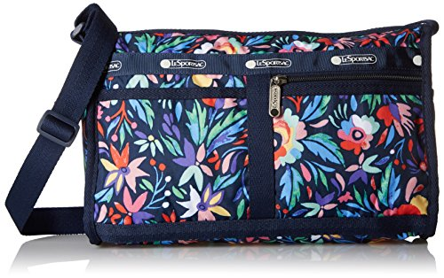 LeSportsac Classic Deluxe Shoulder Satchel Handbag, Pareo, One (Lesportsac Deluxe Shoulder Satchel)