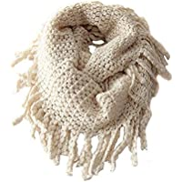Unisex Baby Kids Boys Girls Warmer Winter Thick Knit Wool Soft Scarf Neck Long Scarf Shawl (Beige)