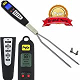Sunday Sale! Best Stainless Digital Meat Cooking Thermometer For Smokers, Meat, Grill, Bbq, Smoker, Kitchen And Candy- Extra Probe, LCD Screen - Dad's Birthday & Gift for Men
