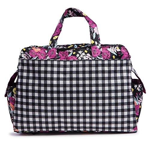 Ju-Ju-Be Onyx Collection Be Prepared Diaper Bag, Gingham Blo