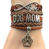 DOLON Infinity Love Dog Mom Bracelet-Coffee