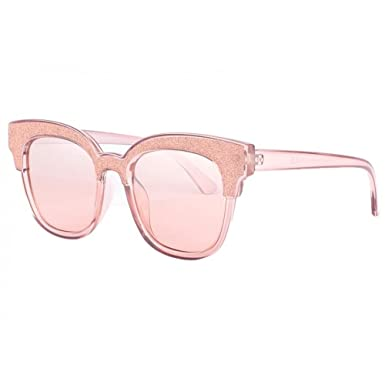 SOLEYL Lunettes de soleil strass rose femme Glamy - Femme  Amazon.fr ... f6e1253a044c