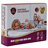 PURE PROTECTOR Zippered Mattress Encasement, Lab Testes Bed Bug Proof, Dust Mite Proof, Waterproof, Bacteria Proof, Against Allergens, Breathable, Noiseless, Vinyl Free. (Cal King)