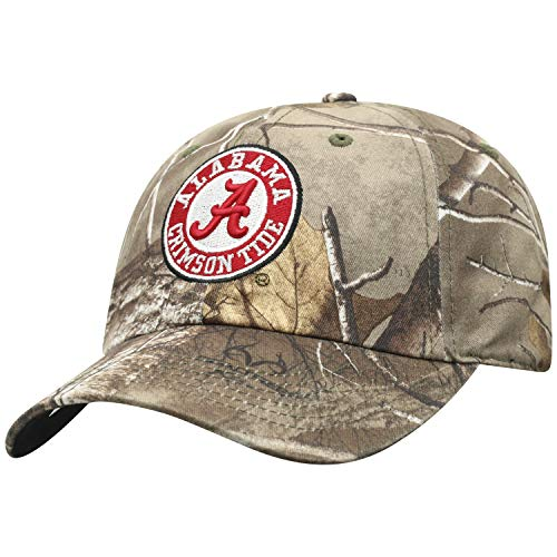 Top of the World NCAA Alabama Crimson Tide Men's Real Tree Camo Adjustable Icon Hat, Real Tree