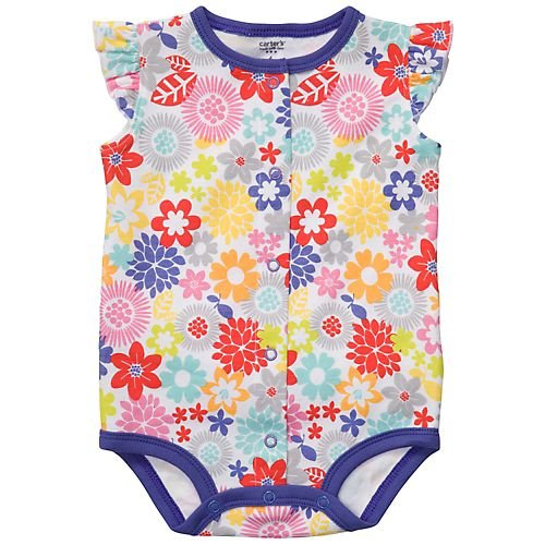 Carters Speedy Exit Creeper Spring Flowers-3 Months