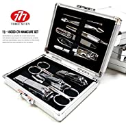 World No. 1, Three Seven 777 Travel Manicure Pedicure Grooming Kit Set (9 PCs, TS-8010RG), MADE IN KOREA, SINCE 1975.