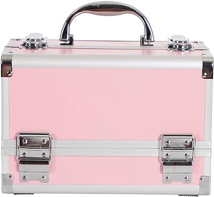 Maletín Para Maquillaje, Estuche de maquillaje, Estuche de cosméticos con Espejo Caja (Color : 5): Amazon.es: Belleza