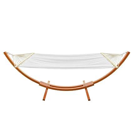 Amazon.com: OnCloud Hamaca de madera soporte de arco: Jardín ...