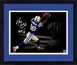 "Framed Marvin Harrison Indianapolis Colts Autographed 11"" x 14"" Spotlight Photograph with ""HOF"" Inscription - Fanatics Authentic Certified"