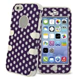 White Polka Print Hybrid Silicone Combo Case for Apple iPhone 5s / 5