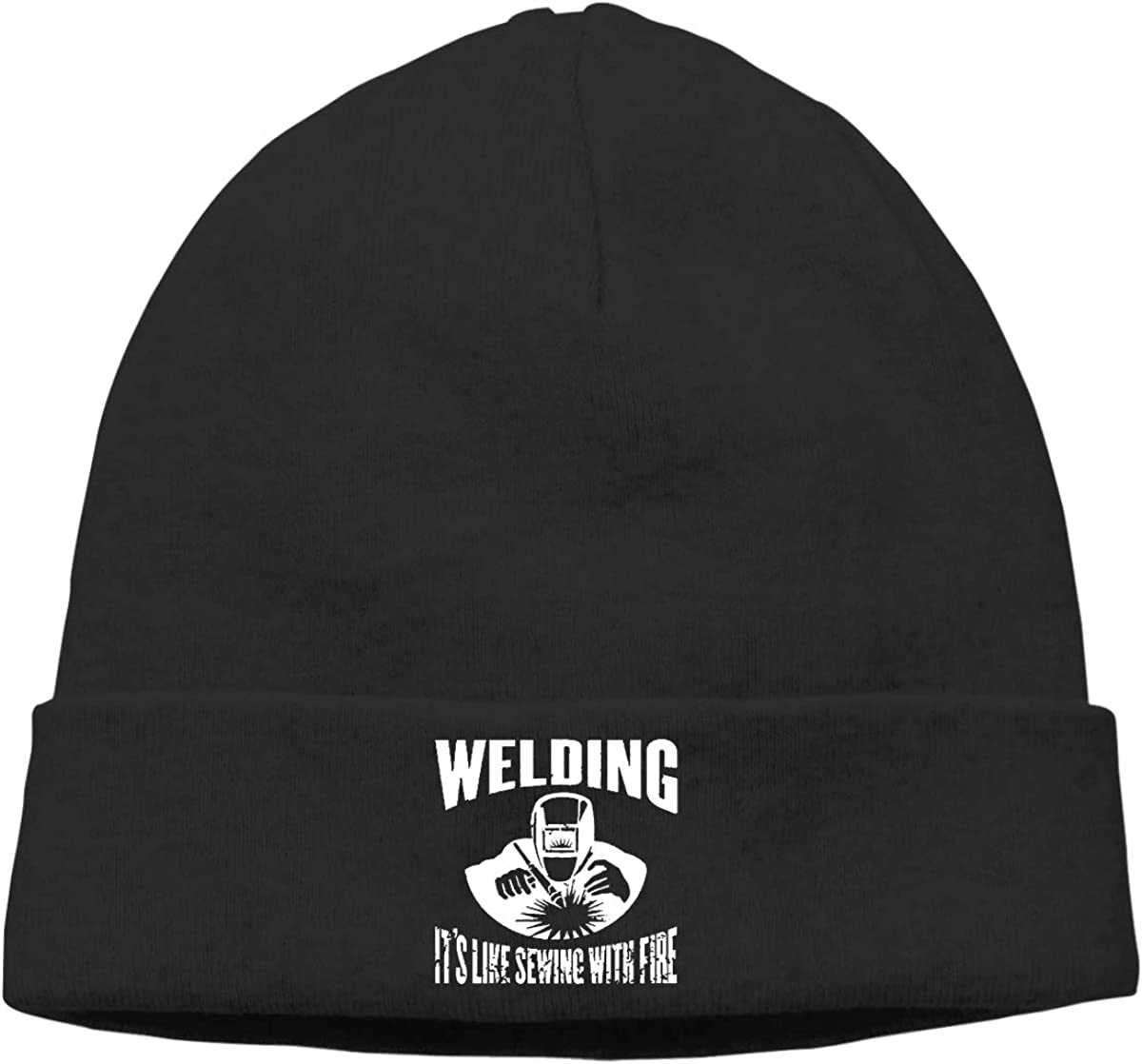 Classic Welding Its Like Sewing with Fire Cap Men /& Women Warm /& Stylish Knit Hat Cap Knit Cuff Beanie