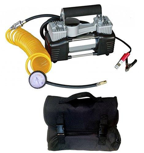 Mini compressore a doppio cilindro professionale con borsa//zaino 12V portatile