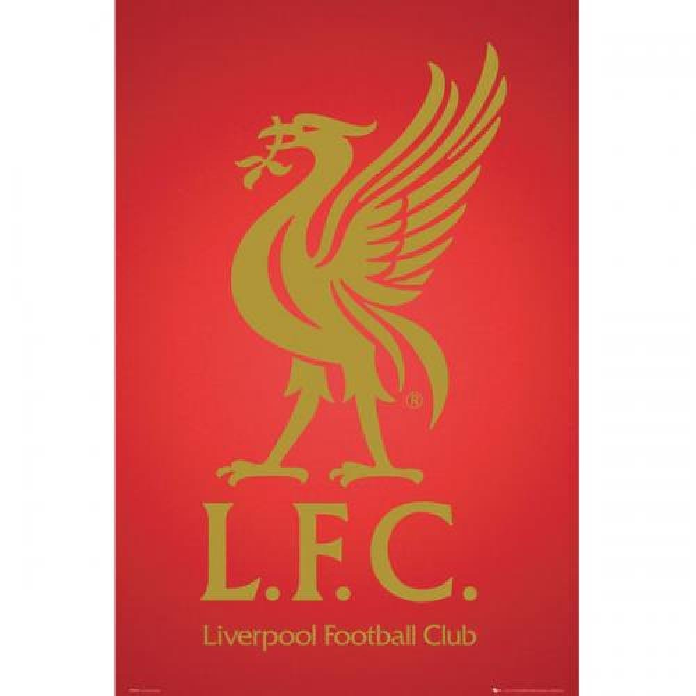 Liverpool FC Official Football Gift Crest Poster - A Great Christmas / Birthday Gift Idea For Men And Boys