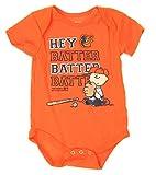 Baltimore Orioles Baby Boys Infants Peanuts Love Baseball Creeper, Orange