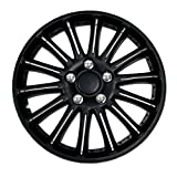 98 honda accord hubcaps - TuningPros WSC-007B15 Hubcaps Wheel Skin Cover 15-Inches Matte Black Set of 4