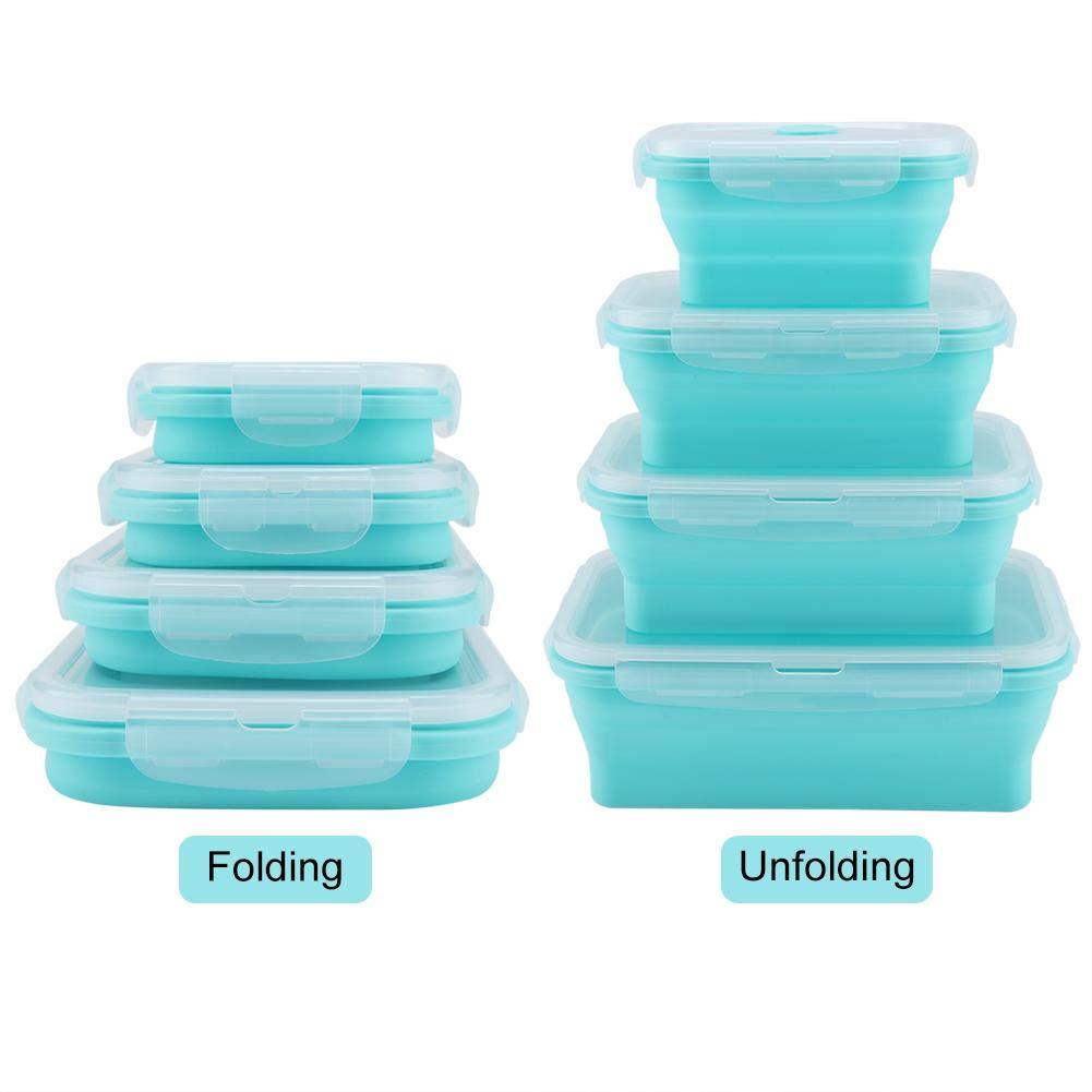 Lunch Box sin BPA con divisores Navaris Fiambrera herm/ética para Comida Verde Bento Box para merienda Almuerzo Desayuno de ni/ños y Adultos