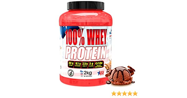 American Suplement 100% Whey Proteína en Polvo, Chocolate - 2Kg.