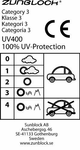 Zunblock Lunettes de soleil anti-UV Navy