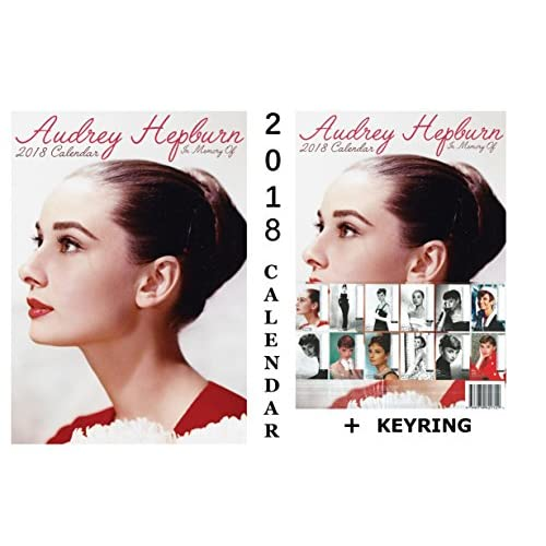 New AUDREY HEPBURN CALENDAR 2018 + AUDREY HEPBURN KEYRING hot sale