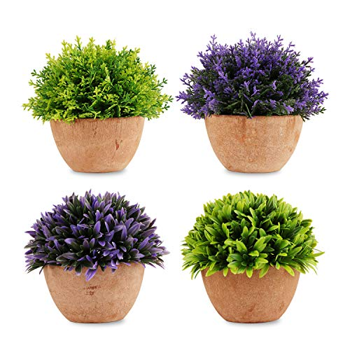 Woaiwo-q Artificial Plants,Artificial Mini Potted Plants,Small Fake Plants for Bathroom Wall Decor,Mini Faux Plans Sets…