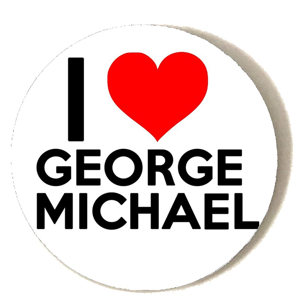 I LOVE GEORGE MICHAEL Compact Mirror Printed Bespoke Designed 58mm Round Novelty Make up mirror ideal for your handbag. KABOOM GIFTS