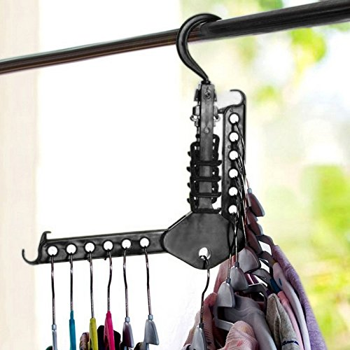 Ipad 2 Halloween Costume Hole - JD Million shop Space Save Magic Clothes tie Hanger Fold Closet Holder Hook Rack ZH771