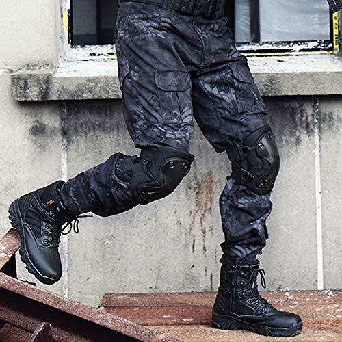 Black Escursioni Scarpe High Uomo Desert Stivali Stivali Training Combattimento Militari Tactical Laterale All'aperto ASJUNQ Stivali Cerniera Arrampicata da Tops per Alpinismo Trekking n1TwCTxqU