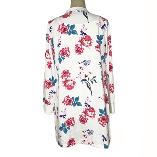 Clode® Femmes manches longues imprimé Shawl Kimono Cardigan Tops Cover Up Blouse