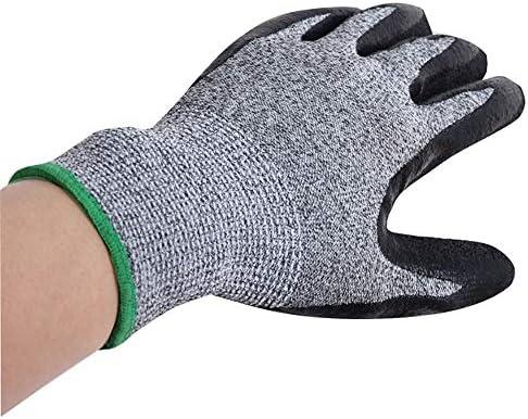 ガーデニング用手袋 カットレベル5ゴム研削滑りやすい耐摩耗性と耐パンク手袋多機能キッチン手袋園芸産業多目的 園芸 採掘 植栽 枝切り 防護手袋